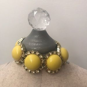 Yellow statement bracelet